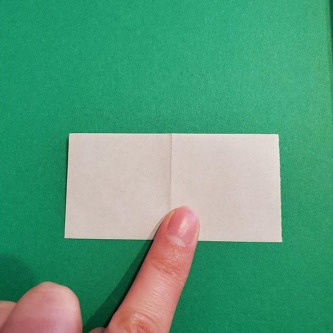 菜の花の折り紙 葉っぱの作り方・折り方 (12)
