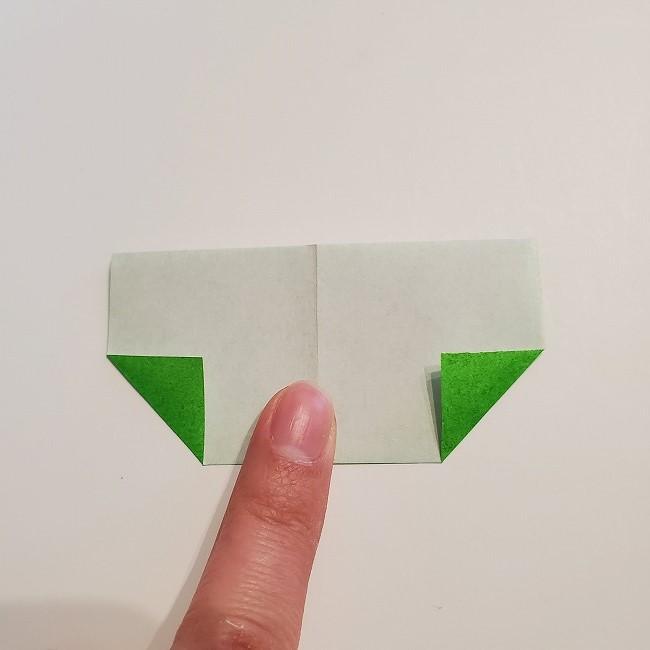 菜の花の折り紙 葉っぱの作り方・折り方 (13)