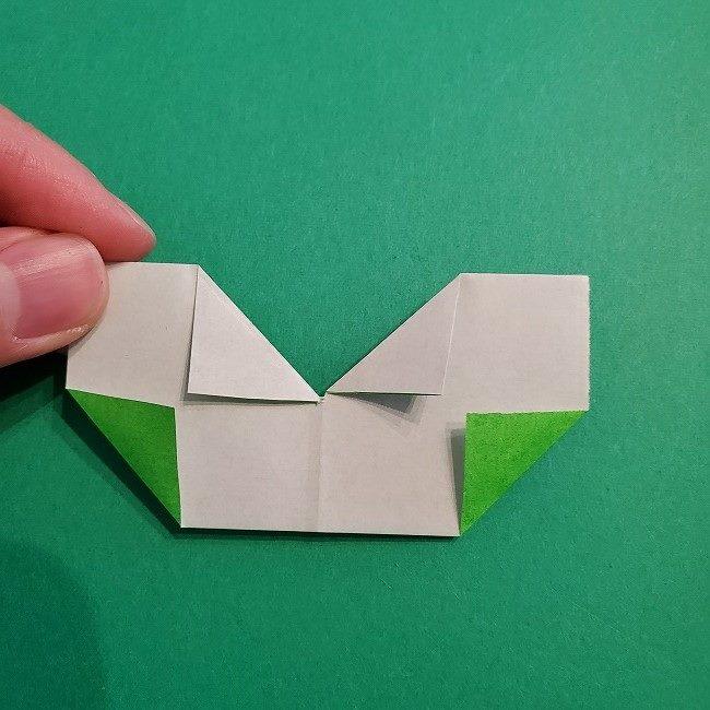 菜の花の折り紙 葉っぱの作り方・折り方 (16)