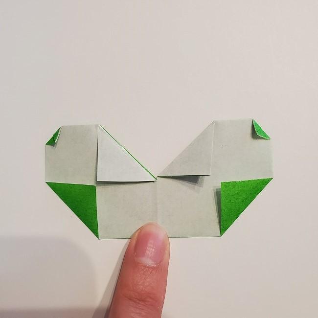 菜の花の折り紙 葉っぱの作り方・折り方 (17)