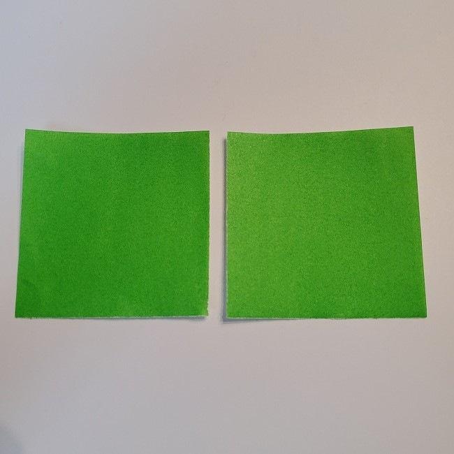 菜の花の折り紙 葉っぱの作り方・折り方 (3)