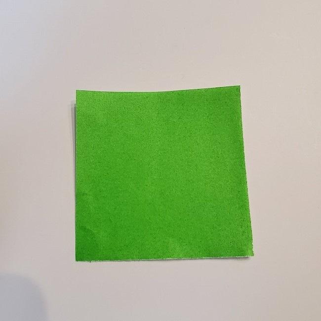 菜の花の折り紙 葉っぱの作り方・折り方 (4)
