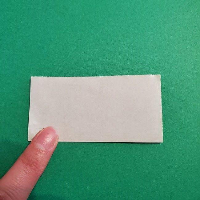 菜の花の折り紙 葉っぱの作り方・折り方 (5)
