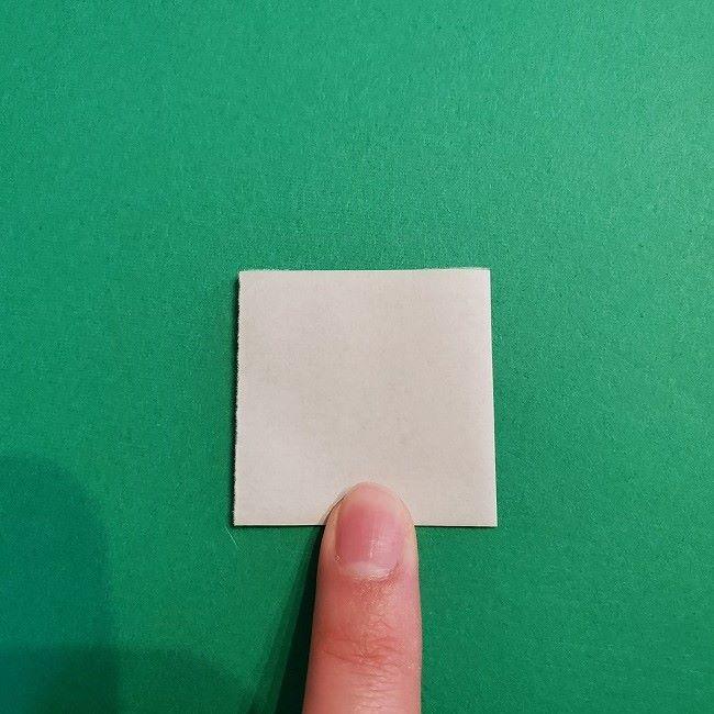 菜の花の折り紙 葉っぱの作り方・折り方 (6)