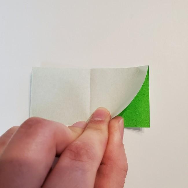 菜の花の折り紙 葉っぱの作り方・折り方 (7)
