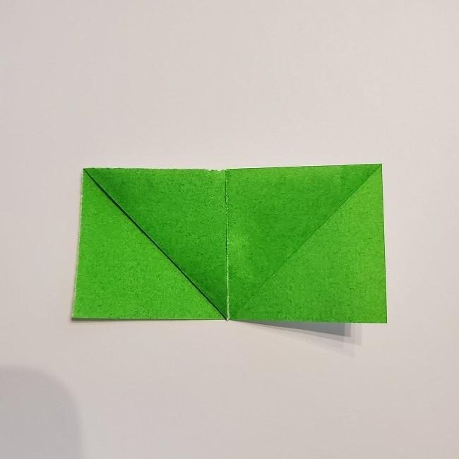 菜の花の折り紙 葉っぱの作り方・折り方 (8)