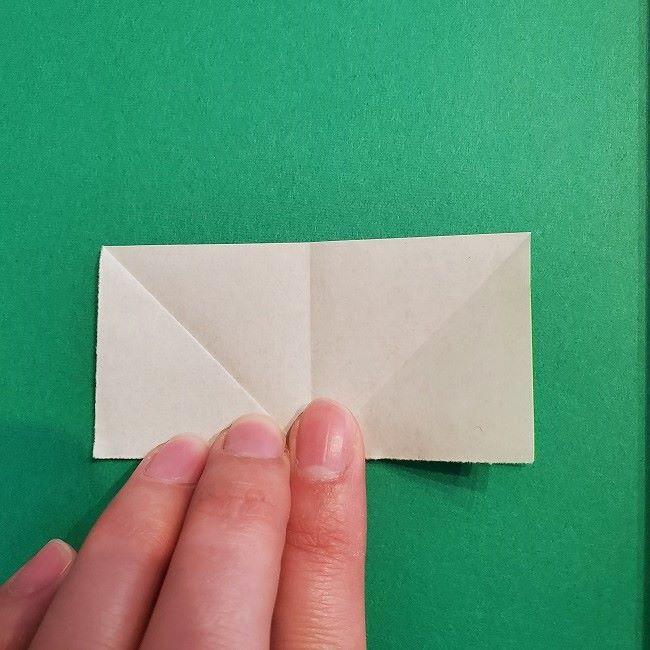 菜の花の折り紙 葉っぱの作り方・折り方 (9)
