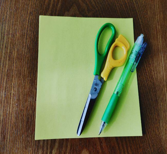菜の花 折り紙の切り絵で必要なもの