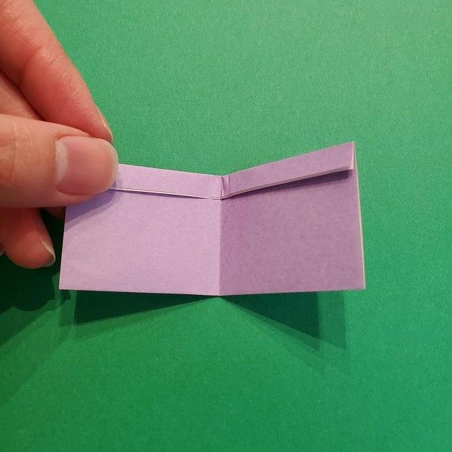 鬼滅の刃の折り紙 げんや(不死川玄弥)の折り方作り方③羽織 (5)
