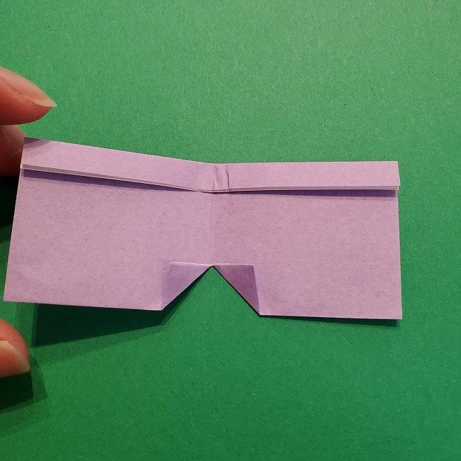 鬼滅の刃の折り紙 げんや(不死川玄弥)の折り方作り方③羽織 (8)