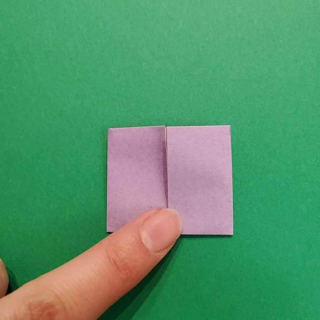 鬼滅の刃の折り紙 げんや(不死川玄弥)の折り方作り方③羽織 (9)