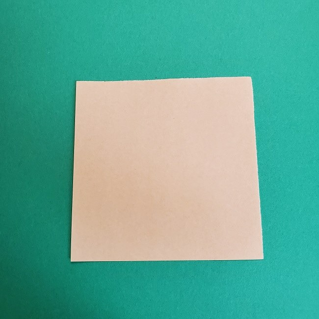 鬼滅の刃の折り紙 げんや(不死川玄弥)の折り方作り方1顔 (1)