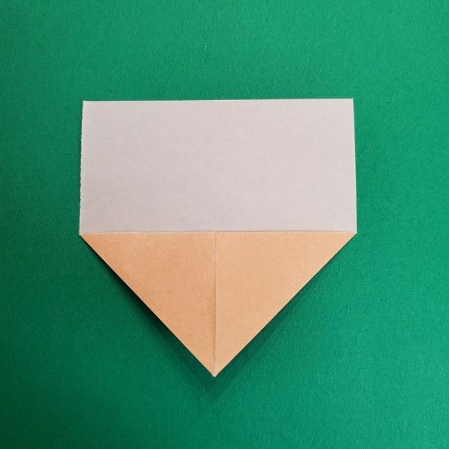 鬼滅の刃の折り紙 げんや(不死川玄弥)の折り方作り方1顔 (4)