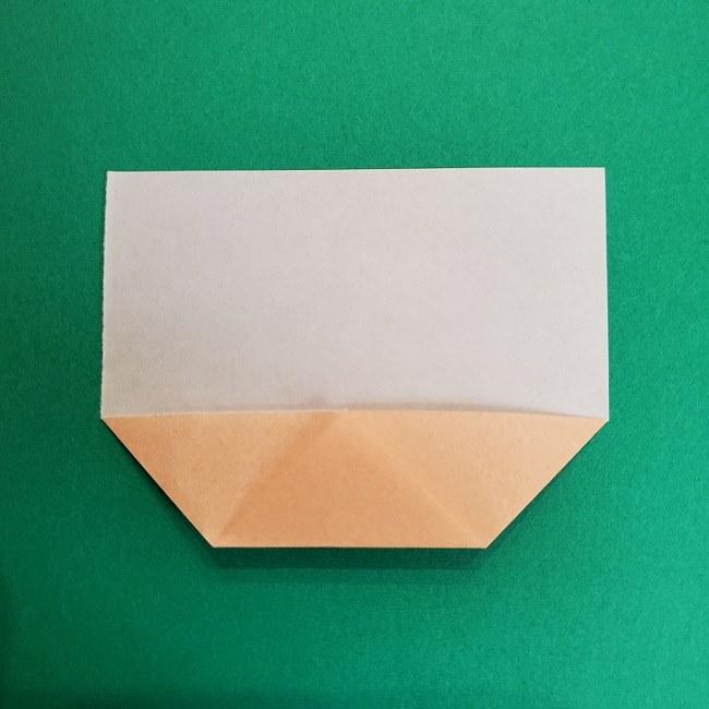 鬼滅の刃の折り紙 げんや(不死川玄弥)の折り方作り方1顔 (5)