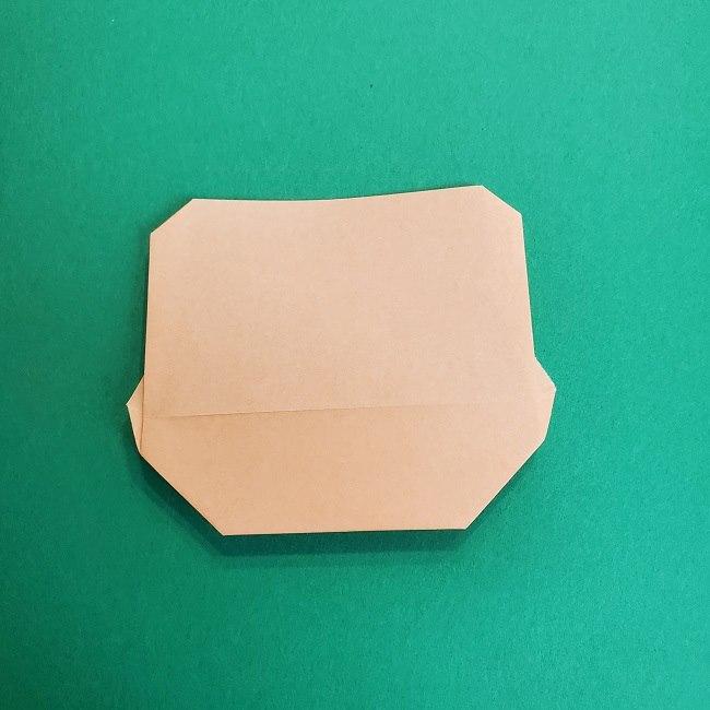 鬼滅の刃の折り紙 げんや(不死川玄弥)の折り方作り方1顔 (9)