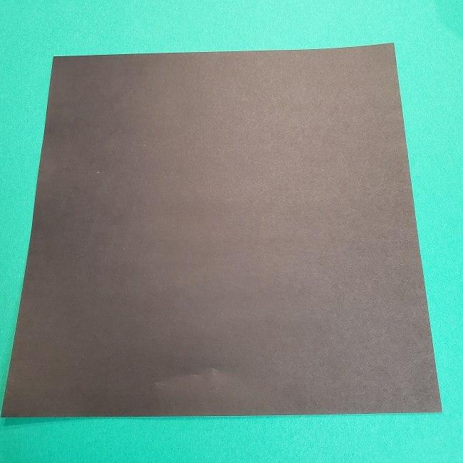 鬼滅の刃の折り紙 げんや(不死川玄弥)の折り方作り方2髪 (1)