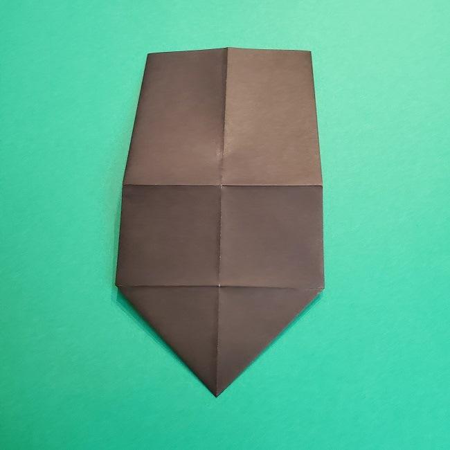 鬼滅の刃の折り紙 げんや(不死川玄弥)の折り方作り方2髪 (10)