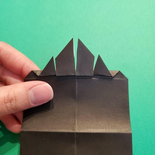 鬼滅の刃の折り紙 げんや(不死川玄弥)の折り方作り方2髪 (15)