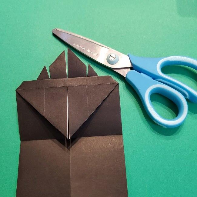 鬼滅の刃の折り紙 げんや(不死川玄弥)の折り方作り方2髪 (17)