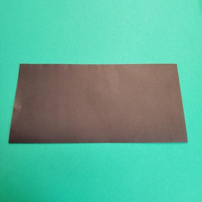 鬼滅の刃の折り紙 げんや(不死川玄弥)の折り方作り方2髪 (2)