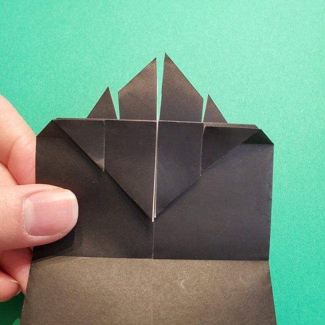 鬼滅の刃の折り紙 げんや(不死川玄弥)の折り方作り方2髪 (21)