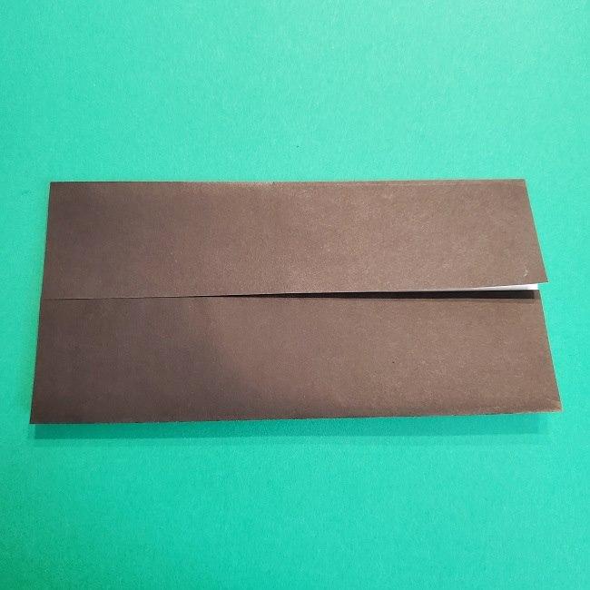 鬼滅の刃の折り紙 げんや(不死川玄弥)の折り方作り方2髪 (4)