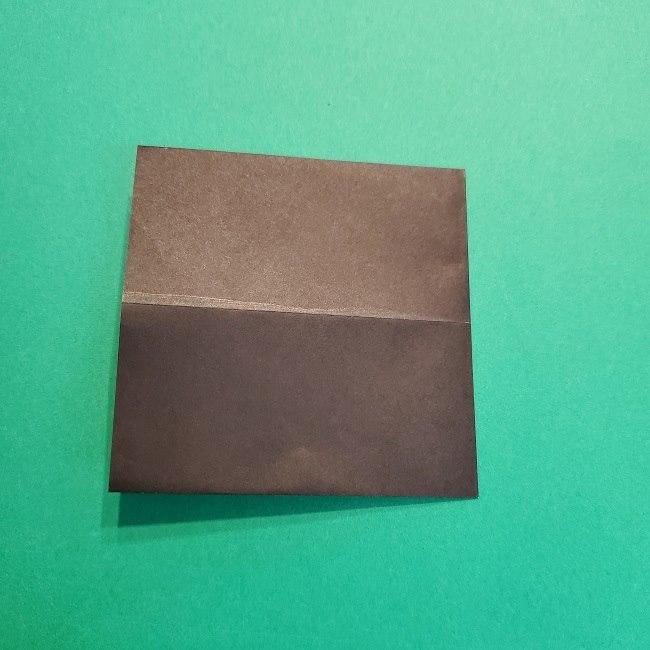 鬼滅の刃の折り紙 げんや(不死川玄弥)の折り方作り方2髪 (5)