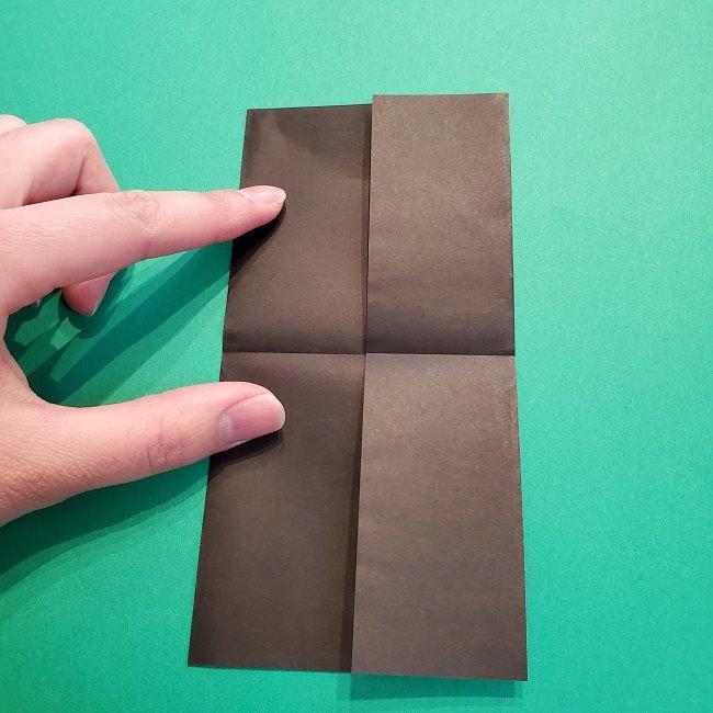 鬼滅の刃の折り紙 げんや(不死川玄弥)の折り方作り方2髪 (6)