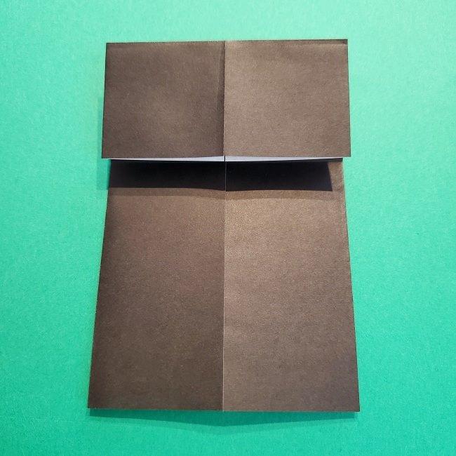 鬼滅の刃の折り紙 げんや(不死川玄弥)の折り方作り方2髪 (7)