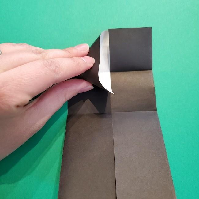 鬼滅の刃の折り紙 げんや(不死川玄弥)の折り方作り方2髪 (8)