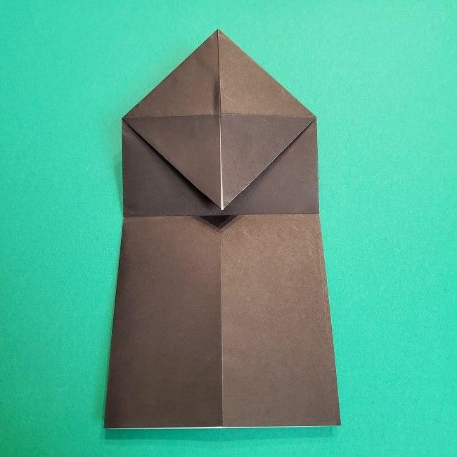 鬼滅の刃の折り紙 げんや(不死川玄弥)の折り方作り方2髪 (9)