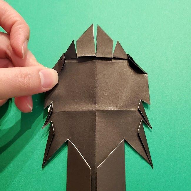 鬼滅の刃の折り紙 げんや(不死川玄弥)の折り方作り方4完成 (17)