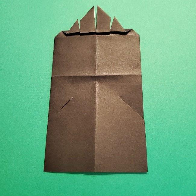 鬼滅の刃の折り紙 げんや(不死川玄弥)の折り方作り方4完成 (8)