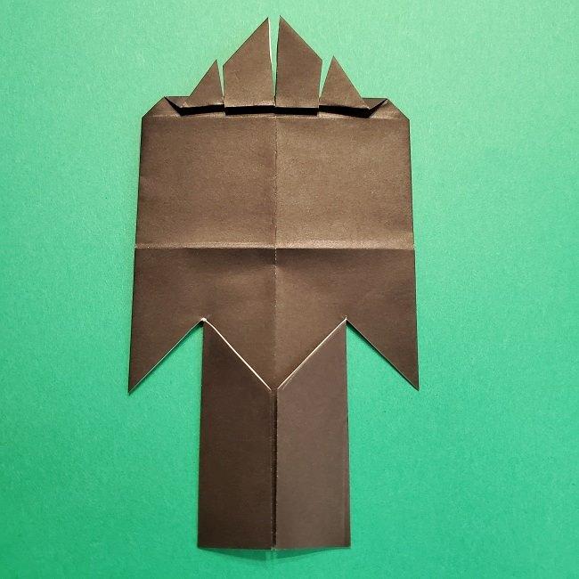 鬼滅の刃の折り紙 げんや(不死川玄弥)の折り方作り方4完成 (9)