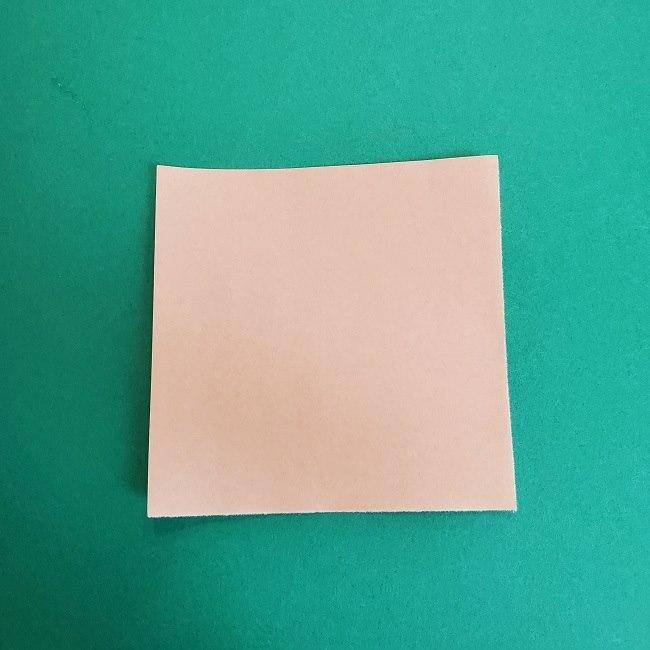 鬼滅の刃の折り紙 さねみ(不死川実弥)の折り方作り方1顔 (1)