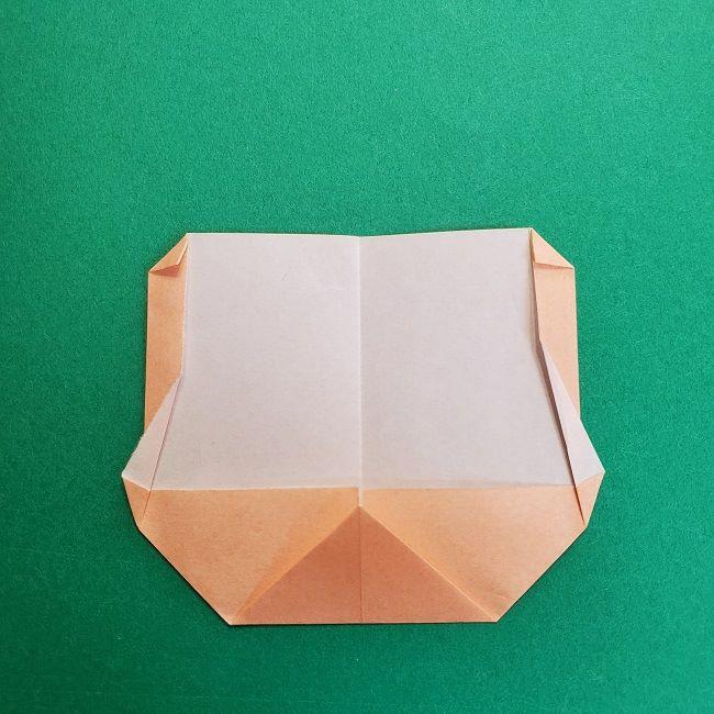 鬼滅の刃の折り紙 さねみ(不死川実弥)の折り方作り方1顔 (8)