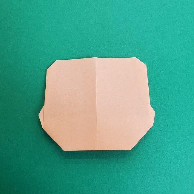 鬼滅の刃の折り紙 さねみ(不死川実弥)の折り方作り方1顔 (9)