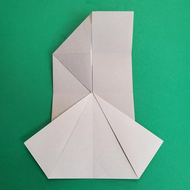 鬼滅の刃の折り紙 さねみ(不死川実弥)の折り方作り方2髪 (10)