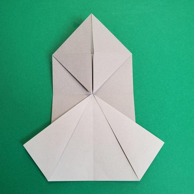 鬼滅の刃の折り紙 さねみ(不死川実弥)の折り方作り方2髪 (11)