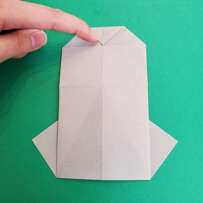 鬼滅の刃の折り紙 さねみ(不死川実弥)の折り方作り方2髪 (13)