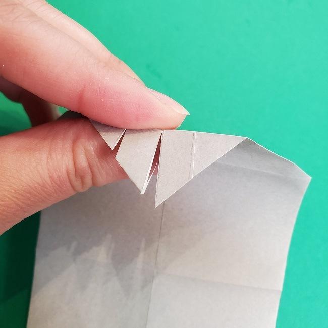 鬼滅の刃の折り紙 さねみ(不死川実弥)の折り方作り方2髪 (15)