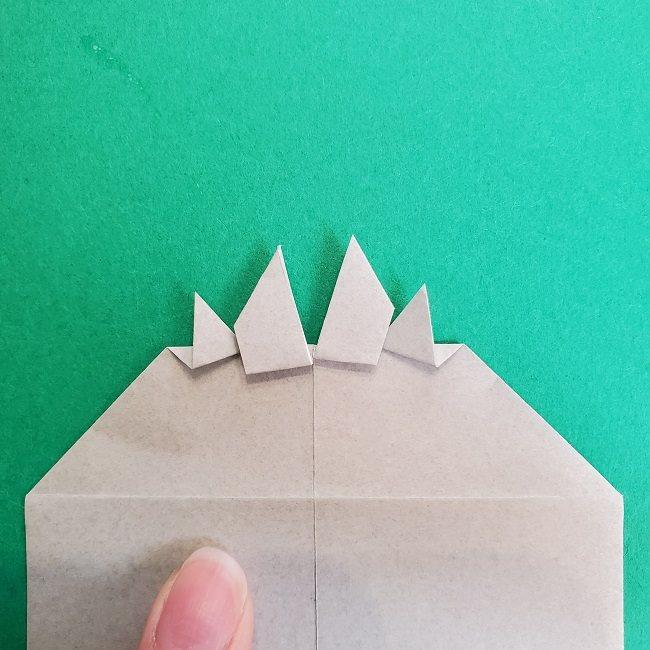 鬼滅の刃の折り紙 さねみ(不死川実弥)の折り方作り方2髪 (16)