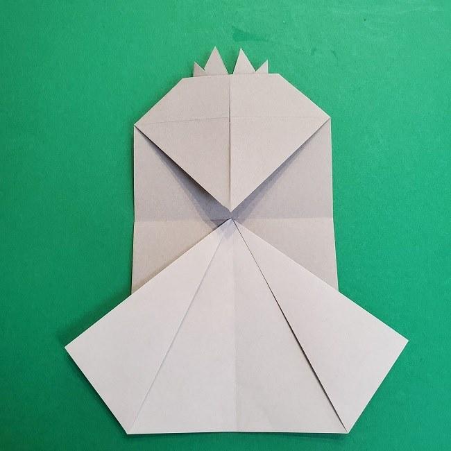 鬼滅の刃の折り紙 さねみ(不死川実弥)の折り方作り方2髪 (17)