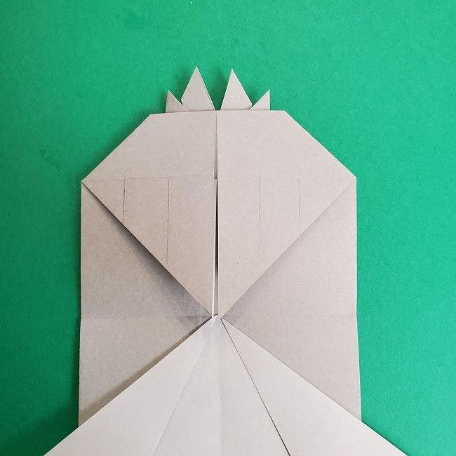 鬼滅の刃の折り紙 さねみ(不死川実弥)の折り方作り方2髪 (18)