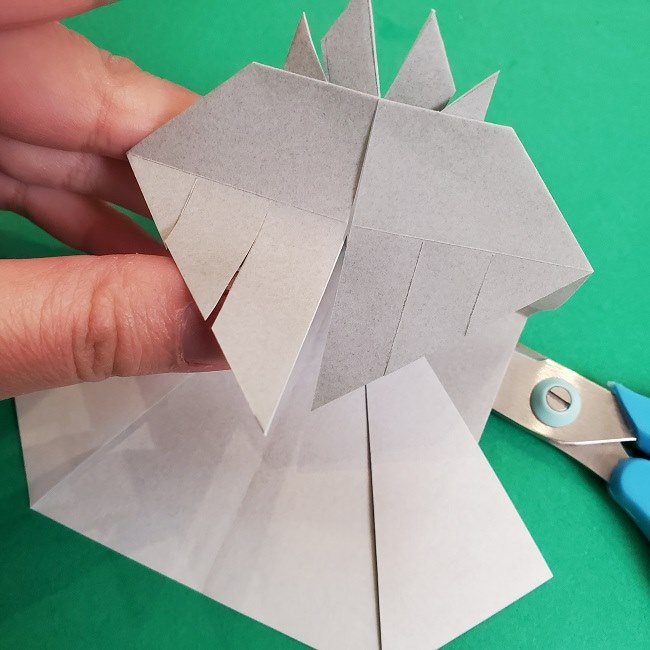 鬼滅の刃の折り紙 さねみ(不死川実弥)の折り方作り方2髪 (19)