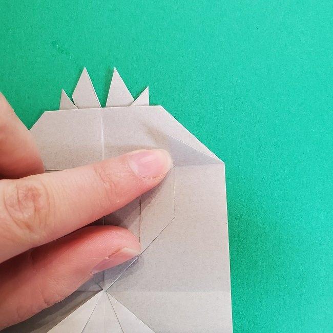鬼滅の刃の折り紙 さねみ(不死川実弥)の折り方作り方2髪 (20)