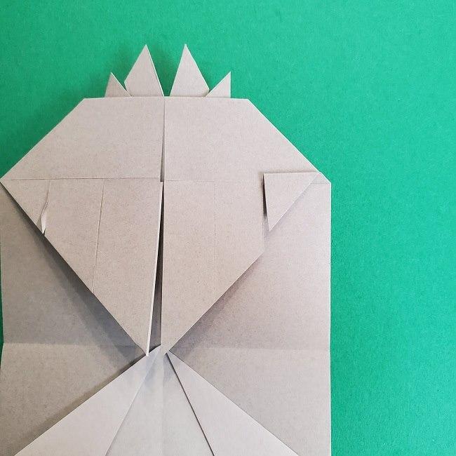 鬼滅の刃の折り紙 さねみ(不死川実弥)の折り方作り方2髪 (21)