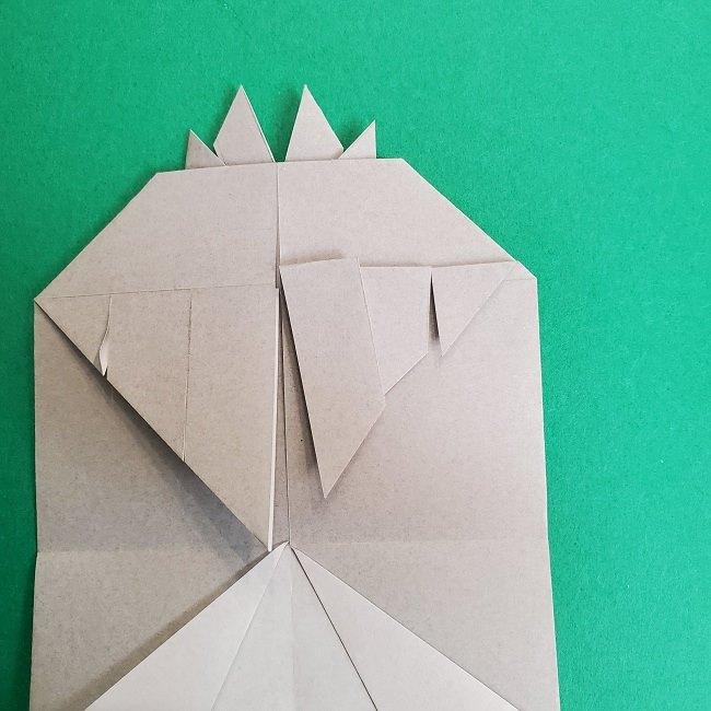 鬼滅の刃の折り紙 さねみ(不死川実弥)の折り方作り方2髪 (22)