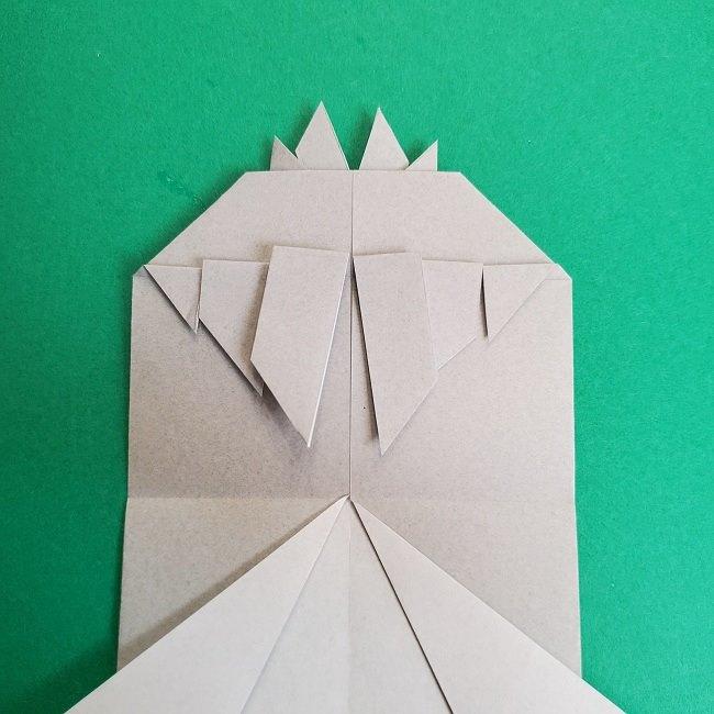 鬼滅の刃の折り紙 さねみ(不死川実弥)の折り方作り方2髪 (23)