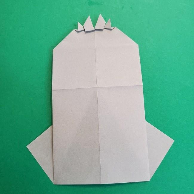 鬼滅の刃の折り紙 さねみ(不死川実弥)の折り方作り方2髪 (24)